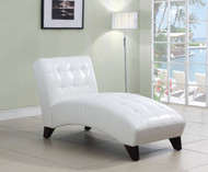 WHITE CHAISE LOUNGE