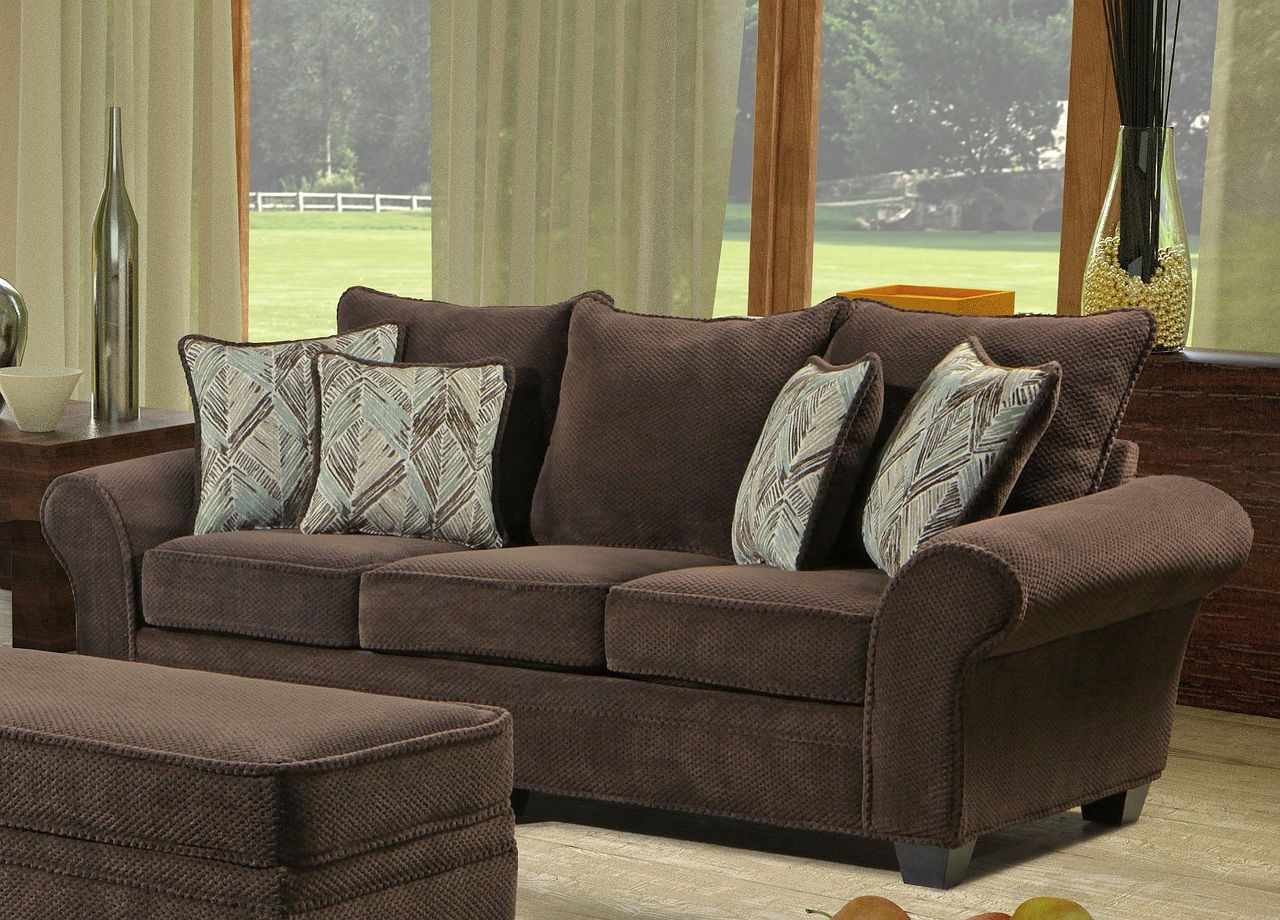 Trinidad chocolate 2pc set for Living room furniture trinidad