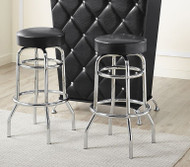 BLACK & CHROME BARSTOOL