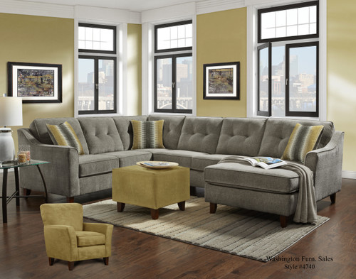 SYDNEY GRAY 3PC SECTIONAL