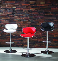 SADDLE SEAT CHROME ADJ BAR STOOLS