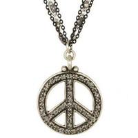 MICHAL GOLAN PEACE SIGN PENDANT N2314