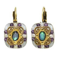 MICHAL GOLAN VINTAGE VIOLET EARRINGS S7222