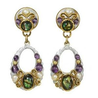 MICHAL GOLAN VINTAGE VIOLET EARRINGS S7219