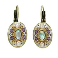 MICHAL GOLAN VINTAGE VIOLET EARRINGS S4713