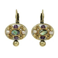 MICHAL GOLAN VINTAGE VIOLET EARRINGS