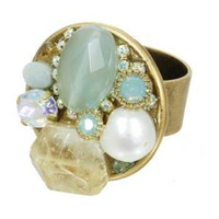 MICHAL GOLAN BLUE LAGOON CRYSTAL RING R7177