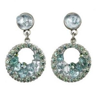 Michal Golan Aqua Marine Crystal Earrings S7214