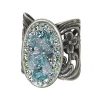 Michal Golan Aqua Marine Crystal Ring