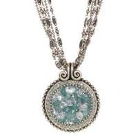 Michal Golan Aqua Marine Crystal Pendant N2248