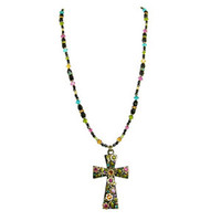 Michal Golan Midnight Blossom Cross