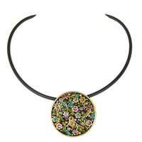 Michal Golan Midnight Blossom Necklace N2098