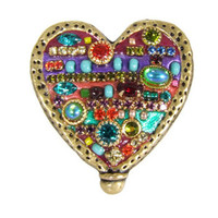 Michal Golan Multi Bright Heart Brooch