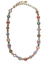 Sorrelli Lollipop Crystal Necklace ~NBW18AGLP
