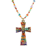 Michal Golan Multi Bright Cross Pendant