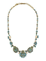 Sorrelli Aqua Bubbles Crystal Multi Cluster Necklace