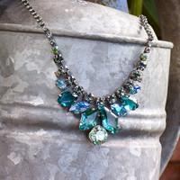 Sorrelli Sea Glass Crystal Necklace~NCY10ASSGL