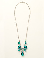 Sorrelli Sea Glass Crystal Necklace~NCR77ASSGL