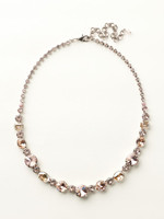 Sorrelli Satin Blush Crystal  Necklace~ NCP38ASSBL