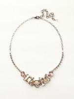 Sorrelli Satin Blush Crystal  Necklace~ NCT13ASSBL