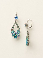 Sorrelli Sea Glass Crystal Earrings~ECQ29ASSGL