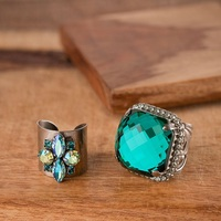 Sorrelli Sea Glass Crystal Ring~RCL18ASSGL