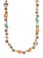 CORAL REEF CRYSTAL NECKLACE BY SORRELLI NAQ3BGCOR
