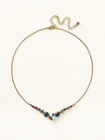 SUPER MULTI CRYSTAL NECKLACE BY SORRELLI~NCQ14AGSPM