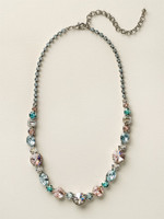 **SPECIAL ORDER**  Sorrelli Sky Blue Peach Crystal  Necklace~ NCP38ASSKY