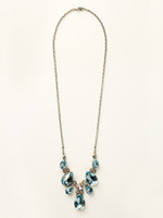 **SPECIAL ORDER**  Sorrelli Sky Blue Peach Crystal  Necklace~ NCR77ASSKY