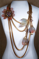 SARAH CAVENDER FLORAL NECKLACE~22166AB