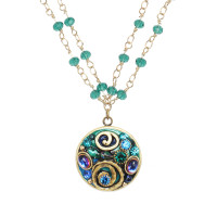 Michal Golan Emerald Collection Necklace~WN3735