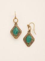 Sorrelli Wild Fern Crystal Earrings~EDE12AGWFN