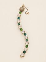 Sorrelli Wild Fern Crystal Bracelet~BCM16AGWFN