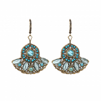 Michal Golan Atlantis Collection - Fan Shaped Drop Earrings ~ S7828
