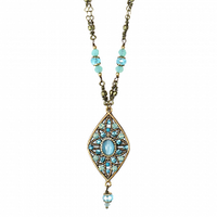 Michal Golan Atlantis Collection - Diamond Pendant with Bead Dangle Necklace ~ N3395