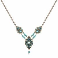 Michal Golan Atlantis Collection - Large Three-part Pendat Necklace ~ N3392