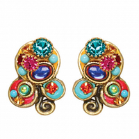 Michal Golan Confetti Collection -  Small Three-part Circle Lever Back Earrings ~ S7659