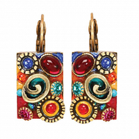 Michal Golan Confetti Collection -  Rectangle Lever Back Earrings ~ S7670
