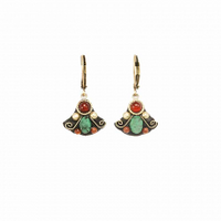 Michal Golan Earth Collection - Small Fan Lever Back Earrings ~ S8021
