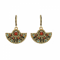 Michal Golan Earth Collection - Elegant Fan Earrings ~ S8089