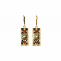 Michal Golan Earth Collection - Large Rectangle Lever Back Earrings ~ S8028