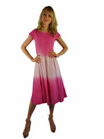 Luna Luz Double Dip Ombre Dress-Cartwheel Pink-401W