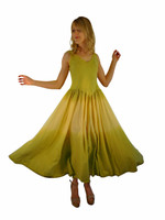 Luna Luz Double Dip Ombre  Dress~Celery/Banana~541W