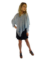 Hand Painted Silk Poncho~Franklin Street Studio~FS1006