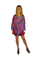 Hand Painted Silk Poncho~Franklin Street Studio~FS1011