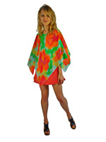 Hand Painted Silk Poncho~Franklin Street Studio~FS1016