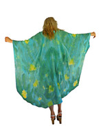Hand Painted Silk Wrap~Franklin Street Studio~FS1027