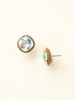 Sorrelli Essentials~Crystal Aurora Borealis Earrings~EBX10AGCAB