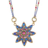 Michal Golan Blue Star Flower Necklace